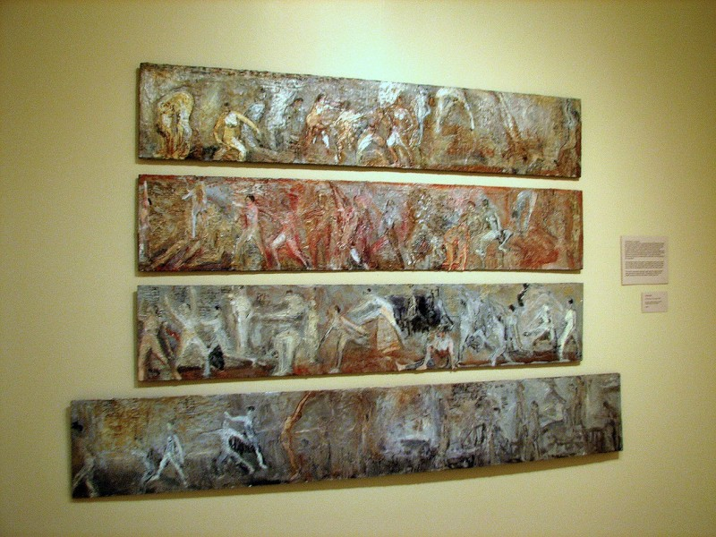 encaustic with mixed media